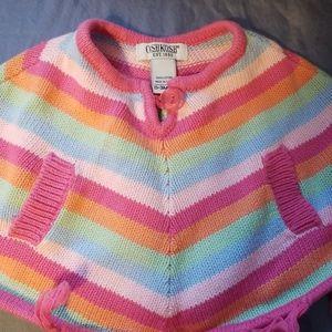 adorable knit rainbow poncho